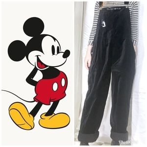 Vintage Mickey Mouse Velvet Overall